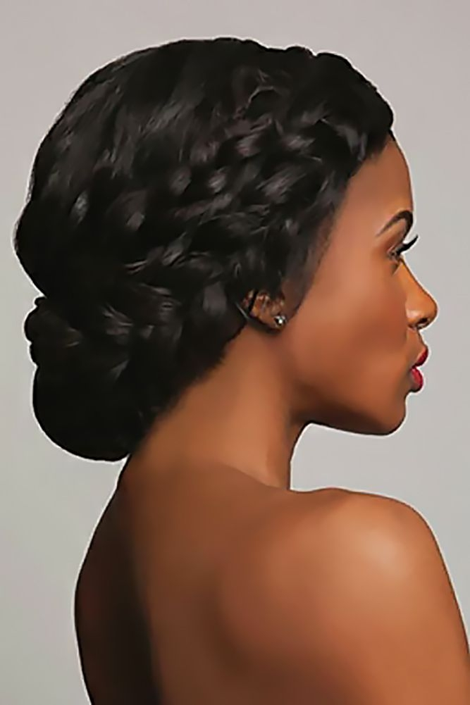 Trend 42 black women wedding hairstyles that full of style Black Braided Updo Hairstyles For Weddings Inspirations