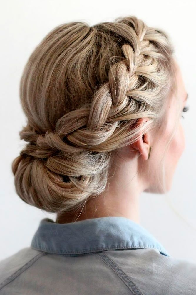 Trend 42 braided prom hair updos to finish your fab look braided Prom Updos For Medium Hair With Braids Inspirations
