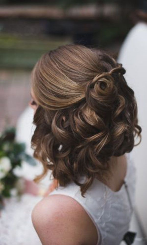 Trend 48 trendiest short wedding hairstyle ideas wedding forward Short Hairstyles For Bridal Party Choices