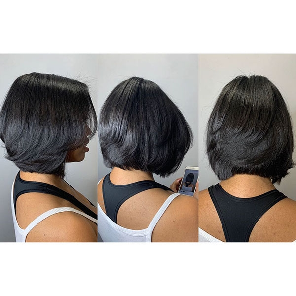 Trend 50 best bob hairstyles for black women pictures in 2019 African American Layered Hairstyles Designs