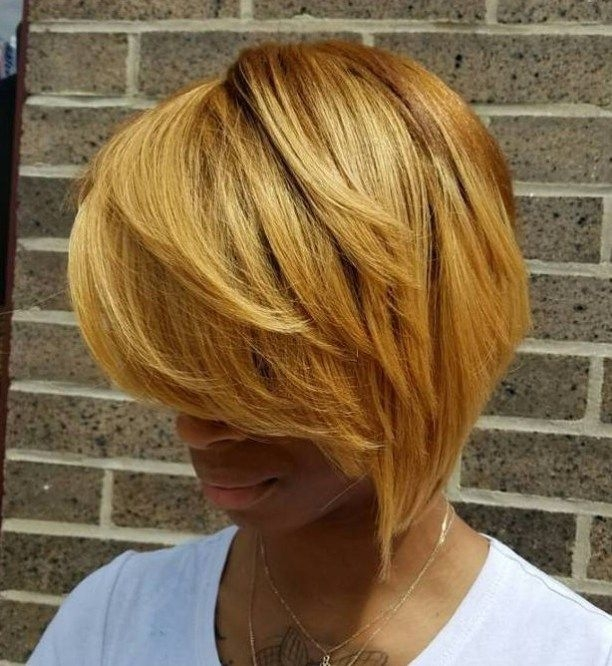 Trend 50 most captivating african american short hairstyles African American Honey Blonde Hairstyles Ideas