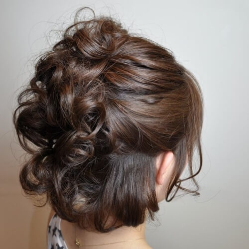 Trend 50 superb wedding looks to try if you have short hair hair Short Hair Updos For Wedding Guest Ideas