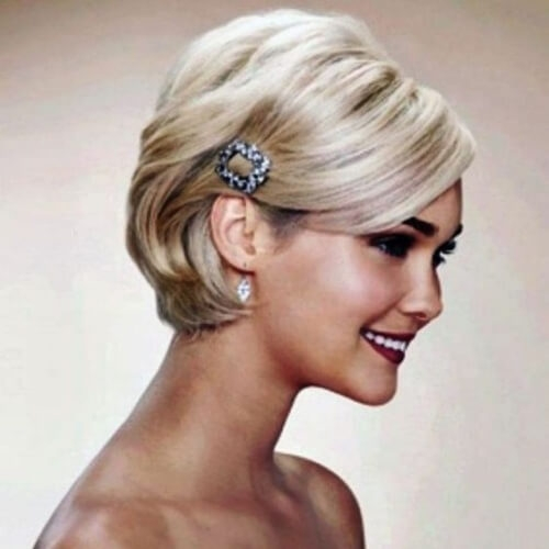 Trend 50 superb wedding looks to try if you have short hair hair Short Hairstyles For Bridal Party Ideas