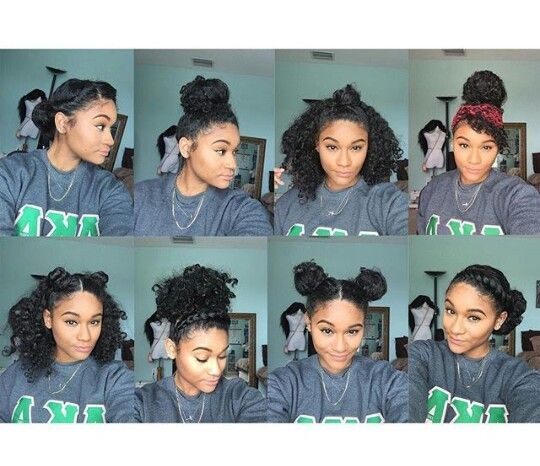 Trend 8 bun styles for natural curly hair igkharissa curly Curly Styles For African American Hair Ideas