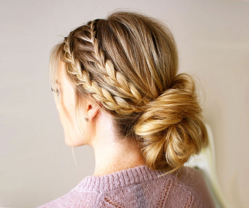 Trend beautiful prom hairstyles thatll steal the night southern Romantic Prom Hairstyle For Long Hair With Braided Flower Ideas