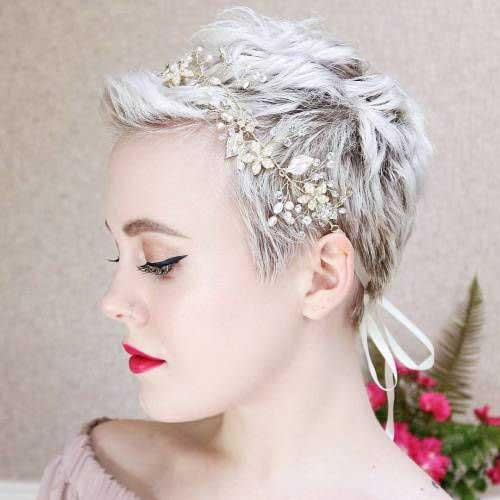Trend best short hairstyles for wedding you should see crazyforus Very Short Hair Wedding Styles Inspirations