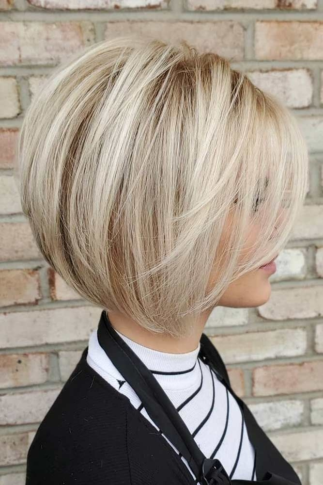 Trend blonde short bob with bangs shortbobhairstyles Pictures Of Short Bob Haircuts Ideas