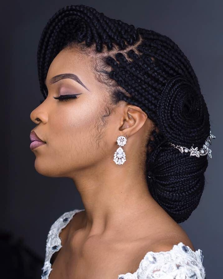 Trend braided bridal inspiration hair marieghold makeup African Wedding Hairstyles Braids Ideas