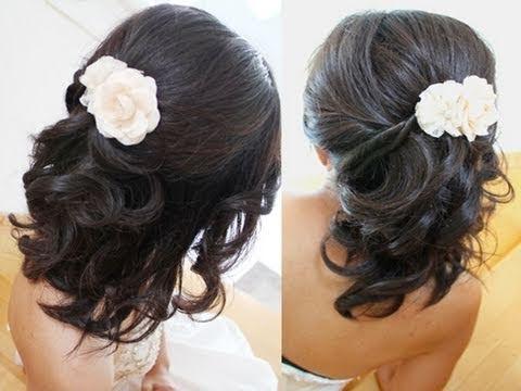 Trend bridal hairstyle for short medium long hair tutorial weddings prom Short Hair Tutorial For Prom Inspirations