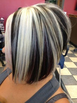 Trend chunky blonde and red highlights colorblonde panels red Short Black Hair With Blonde And Red Highlights Ideas