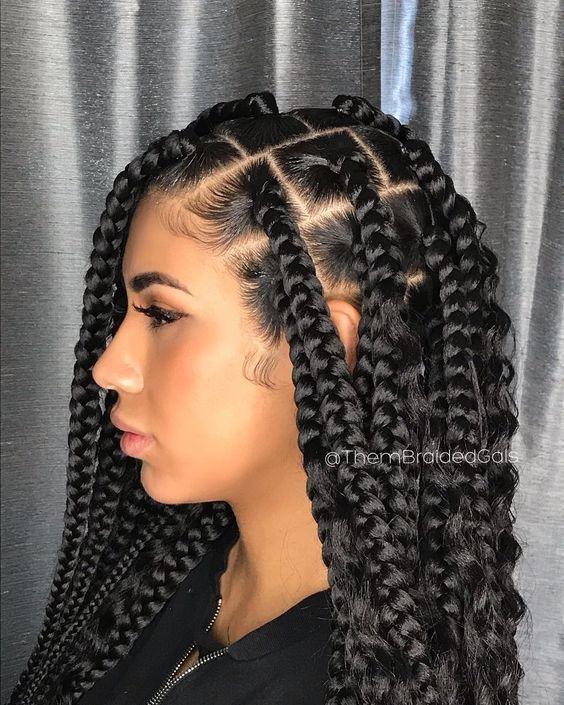Trend cornrows braided hairstyles 201925 big box braids cornrows Hairstyles For Braids Ideas