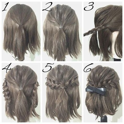 Trend easy prom hairstyle tutorials for girls with short hair Easy Style For Short Hair Ideas