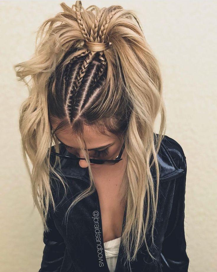 Trend french braid braids tumblr braids tumblr hair blonde Braid Hairstyle Tumblr Inspirations