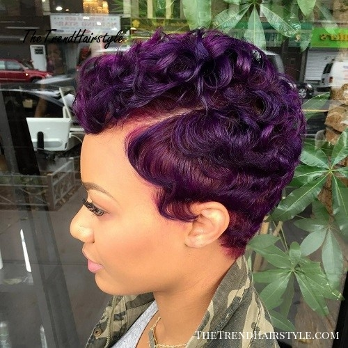 Trend hairstyle with red balayage bangs 50 most captivating Short Hairstyles African American Hair Designs