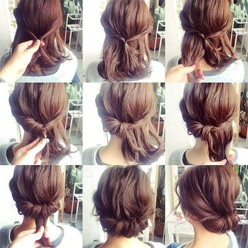 Trend headband twist without the headband this is so cute and Cute Fast Hairdos For Short Hair Choices