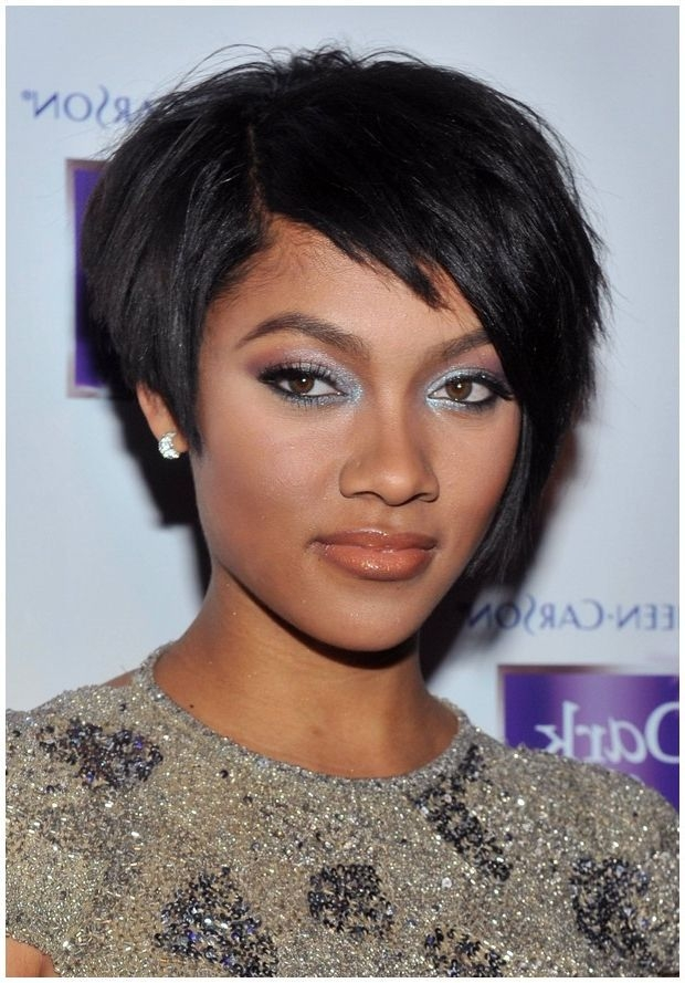 Trend pin l spears on short relaxed hair short hairstyles Short Hairstyles For African American Round Faces Designs