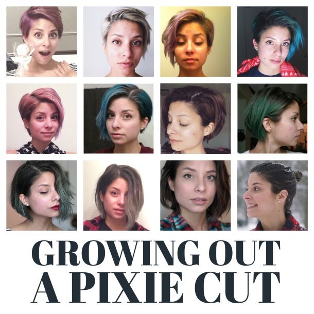 Trend pin on hair Growing Out A Short Haircut Styling Tips Choices