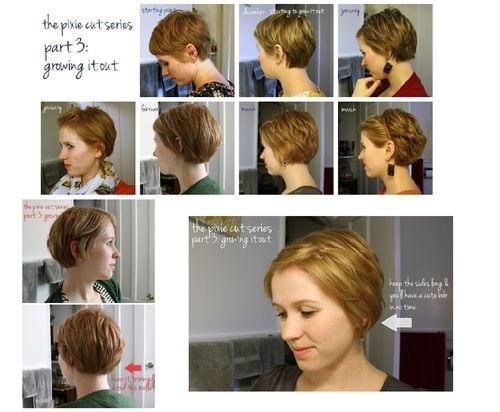 Trend pin on hair Growing Out A Short Haircut Styling Tips Ideas