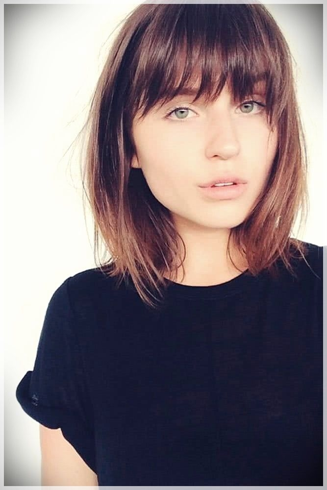 Trend pin on hairstyle ideas Short Hairstyles For Round Faces With Bangs Inspirations