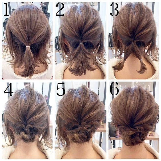 Trend pin on hairstyle messy Short Hair Styles Updo Choices