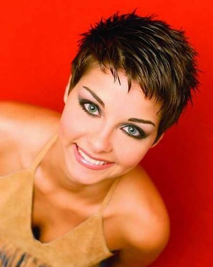 Trend pixie hairstyles for round face and thin hair 2018 awesome Short Spiky Haircuts For Round Faces Choices