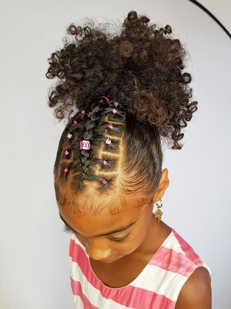 Trend ponytail with a twist hairstyles for curly little girls Cute Ponytail Hairstyles For Black Short Hair Inspirations