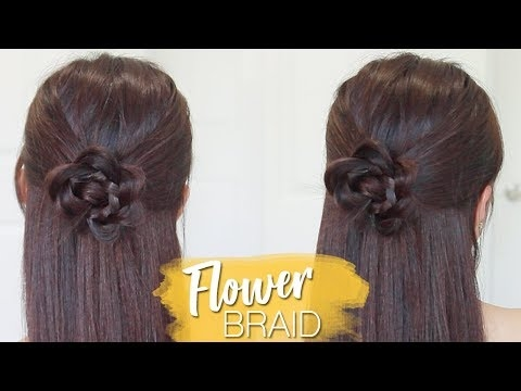 Trend rosette flower braid hairstyle for medium long hair tutorial Rosette Flower Braid Hairstyle For Medium Long Hair Tutorial Ideas