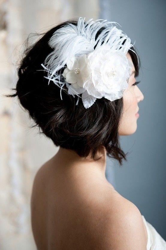 Trend short bob with fascinator short wedding hair short hair Fascinators For Short Hair Styles Inspirations