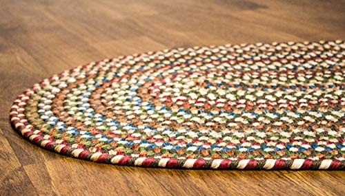 Trend super area rugs american made braided rug for indoor outdoor spaces dk taupenatural multi colored 5 x 8 oval American Made Braided Rugs Ideas