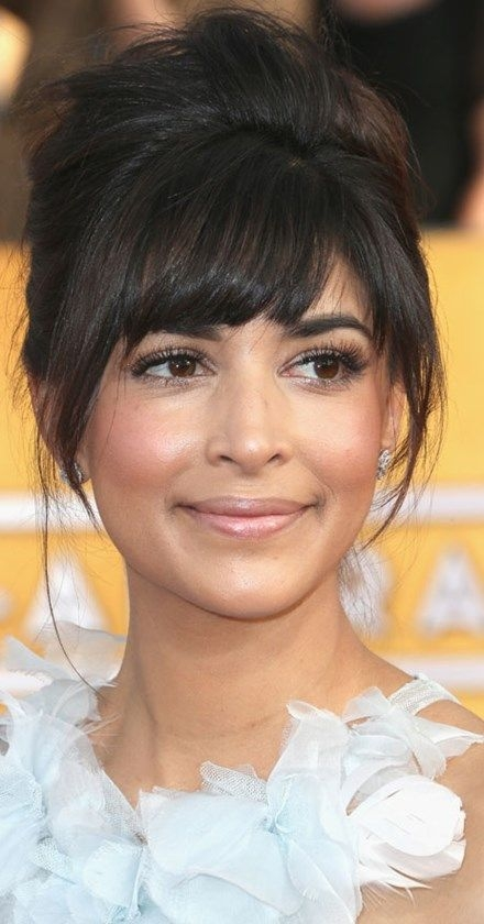 Trend the top beauty trends at the sag awards 2014 with images Haircuts For Short Foreheads Ideas