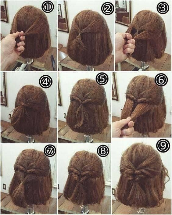 Trend this a step step of a cute but simple hairstyle Cute Hairstyle For Short Hair Step By Step Inspirations