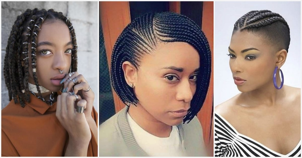 Trend trendy braids for short natural hair to rock in 2018 Braid Styles For Short Natural Hair Ideas