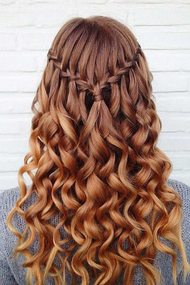Trend try 42 half up half down prom hairstyles lovehairstyles Prom Hairstyles For Medium Hair With Curls And Braids Choices