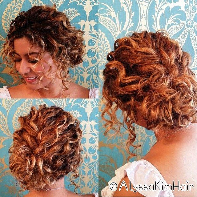 updos for short curly hair short wedding hair curly hair Hairstyles For Short Curly Hair For Prom Inspirations