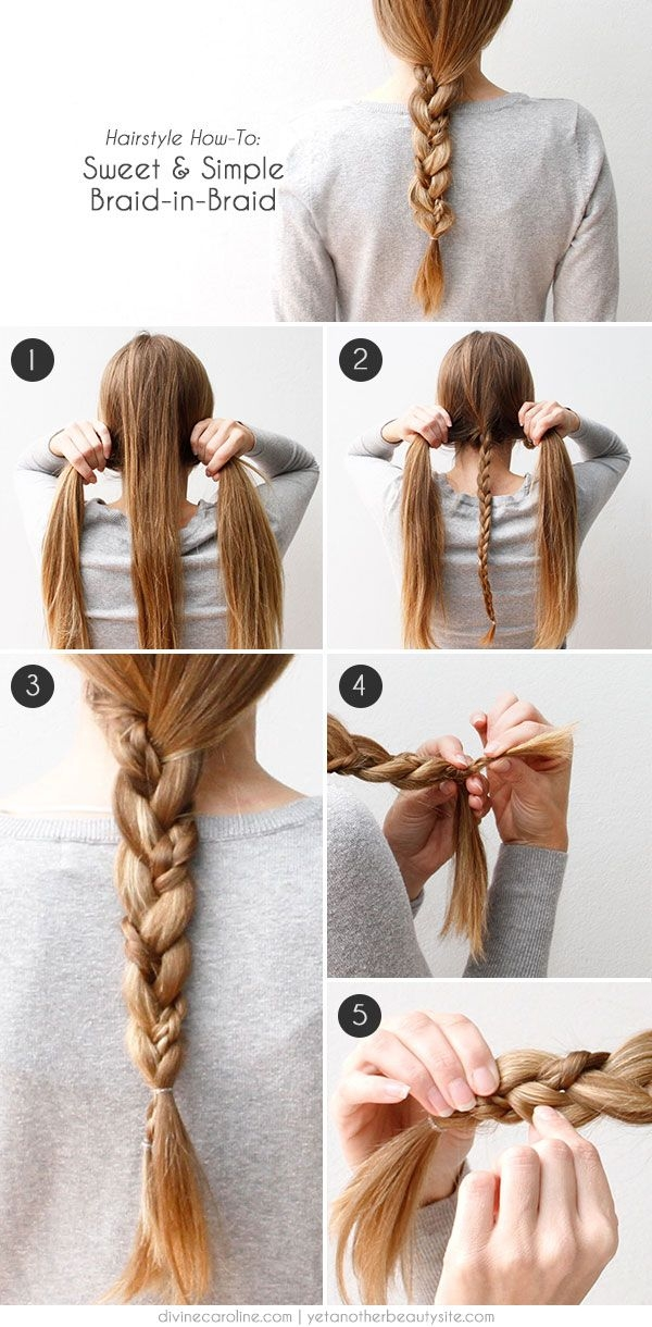wear this hair a simple braided beauty more hair styles Quick And Easy Braided Hairstyles For Medium Hair Inspirations