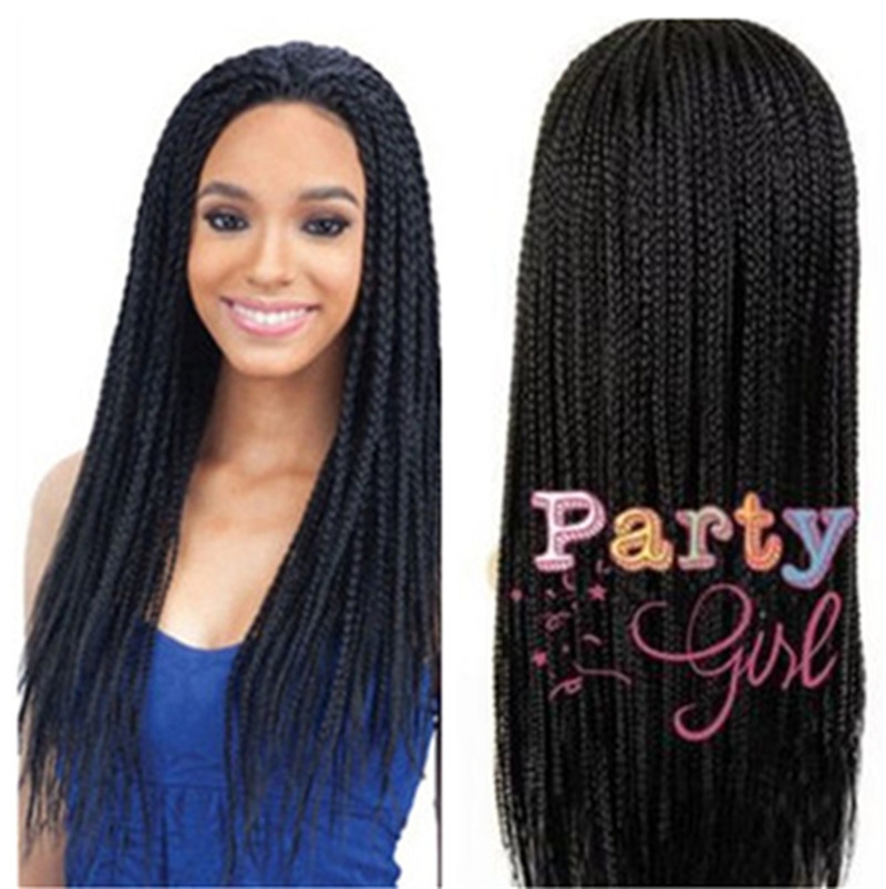 wigs for black women braided wigs long synthetic african american wig African American Micro Braid Wigs