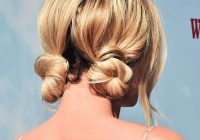 10 cool and easy buns that work for short hair Cute Bun Hairstyles For Short Hair Inspirations