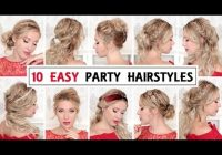 10 easy wedding party hairstyles for short medium and long Hairstyle For Short Hair For Evening Party Choices