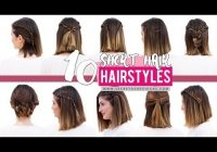 10 quick and easy hairstyles for short hair patry jordan Diy Hairstyles For Short Hair With Bangs Inspirations