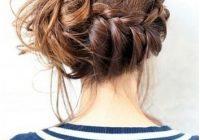 10 trendy messy braid bun updos popular haircuts Braid Bun Hairstyles For Medium Hair Ideas