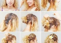 20 incredibly stunning diy updos for curly hair Easy Bun Hairstyles For Short Curly Hair Inspirations