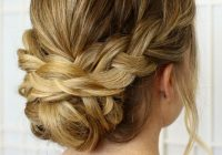 25 chic braided updos for medium length hair hairstyles Formal Hairstyles For Medium Hair With Braids Inspirations