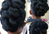 40 cute updos for natural hair the right hairstyles for Black Hair Updo Braid Styles Inspirations