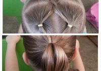 a simple way to add pizzazz to a simple ponytail braids Hairstyle For Short Hair Little Girl Ideas