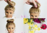 american girl doll hairstyle bun flower crown how pretty Cute Hairstyles For Your American Girl Doll Ideas