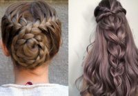Awesome 12 quick and easy braided hairstyles 2021 braids inspiration Easy Braided Updos For Long Hair Choices