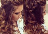 Awesome 18 elegant hairstyles for prom 2020 Prom Hairstyles For Medium Hair With Curls And Braids Choices