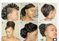 Awesome 2019 hair bridal natural hairstyles for black women in 2020 Short Black Hairstyles To Do At Home Inspirations