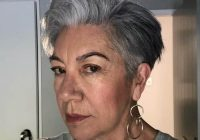 Awesome 21 chic grey hairstyles ideal for over 60 women hairstylecamp Short Haircuts For Salt And Pepper Hair Ideas