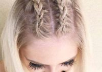 Awesome 27 braid hairstyles for short hair that are simply gorgeous Braided Hairdos For Short Hair Choices